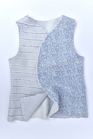 "Silk Felted Merino Wool Vest ""Cotton Candy"" - MIRAYJEWELRY"