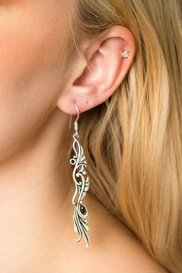 Sterling Silver Stork Earrings - MIRAYJEWELRY