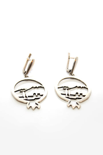 Sterling Silver Mount Ararat Earrings - MIRAYJEWELRY