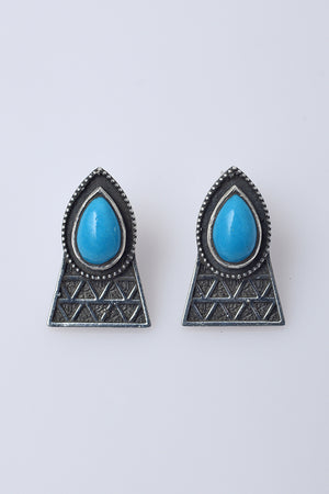 The Queen Earrings with Turquoise