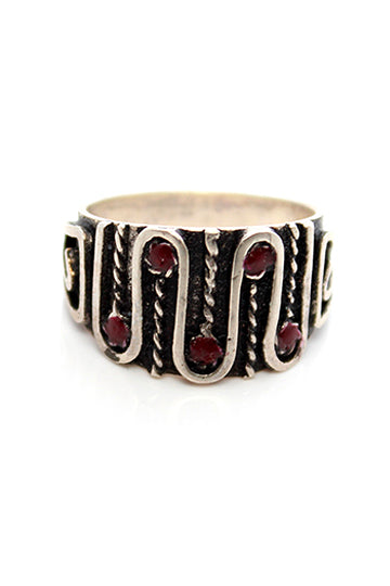 Sterling Silver Red Thread Ring - MIRAYJEWELRY