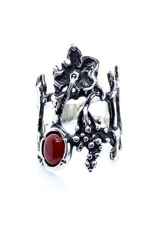 Sterling Silver Grape Vine Ring - MIRAYJEWELRY