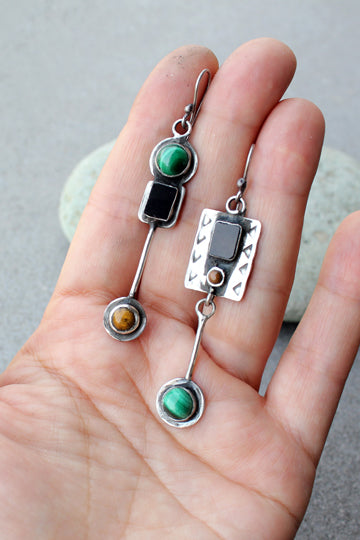 Gemstone Earrings - MIRAYJEWELRY