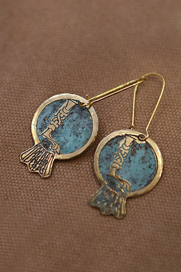 Noor Earrings with Letters - MIRAYJEWELRY
