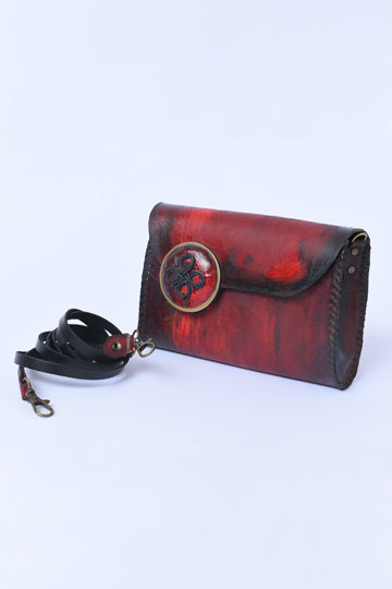 Red Leather Bag - MIRAYJEWELRY