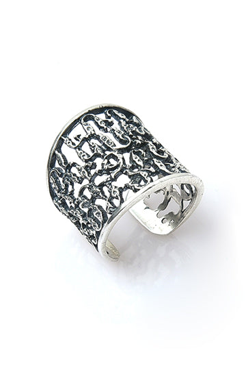 Sterling Silver Alphabet Ring - MIRAYJEWELRY