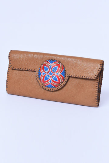 Rectangular Leather Wallet - MIRAYJEWELRY