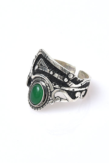 Sterling Silver Green Dragon Eye Ring - MIRAYJEWELRY