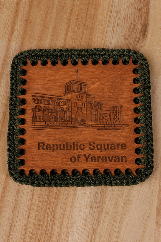 Republic Square drink coaster
