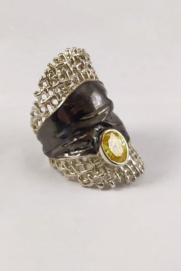 Silver Ring with Citrine - MIRAYJEWELRY