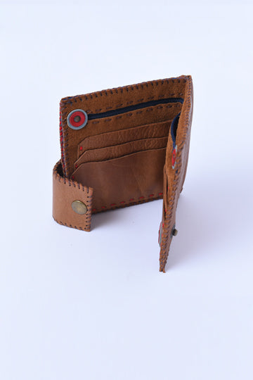 Leather Wallet light brown - MIRAYJEWELRY
