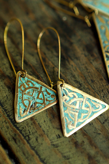 Triangle Earrings - MIRAYJEWELRY