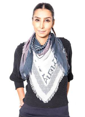 Armenian Alphabet and Eternity Scarf - MIRAYJEWELRY