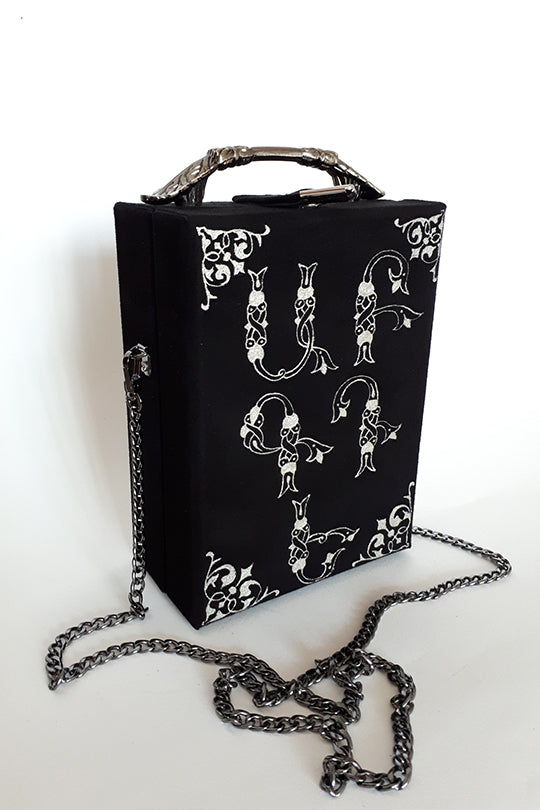Armenian alphabet leather bag