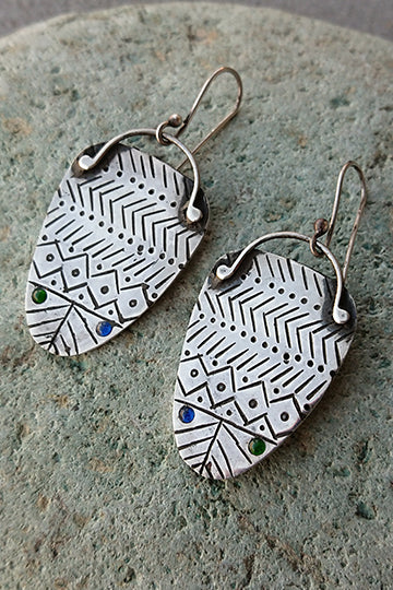 Big Ethnic Earrings - MIRAYJEWELRY