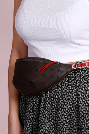 Brown Cross-bag with Ornamented Belt