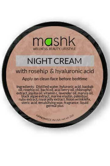 Ethereal Collection Night Cream With Rosehip & Hyaluronic Acid - MIRAYJEWELRY