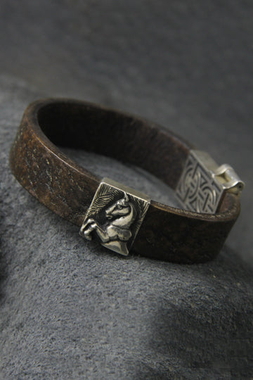 Horse Leather Bracelet - MIRAYJEWELRY