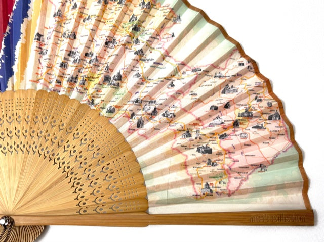 Journey to Armenia Hand Fan by Anet's Collection