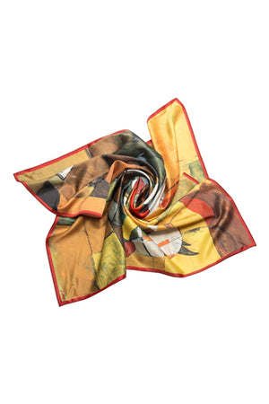 "Silk scarf ""In the saddle"" - MIRAYJEWELRY"