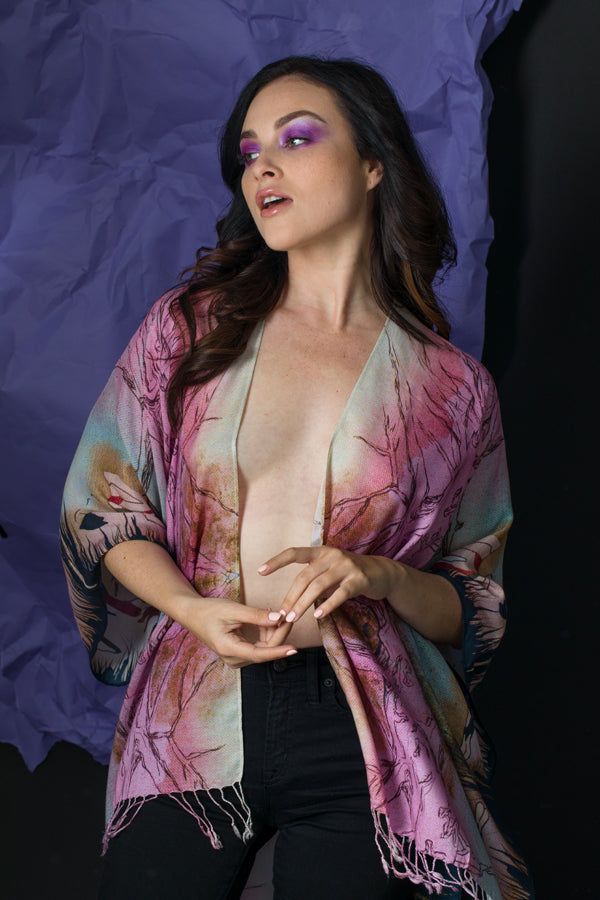 Pink Nude #1 Kimono by Anet's Collection - MIRAYJEWELRY