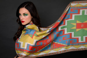 Armenian Alphabet Rectangle scarf #3 by Anet's Collection - MIRAYJEWELRY