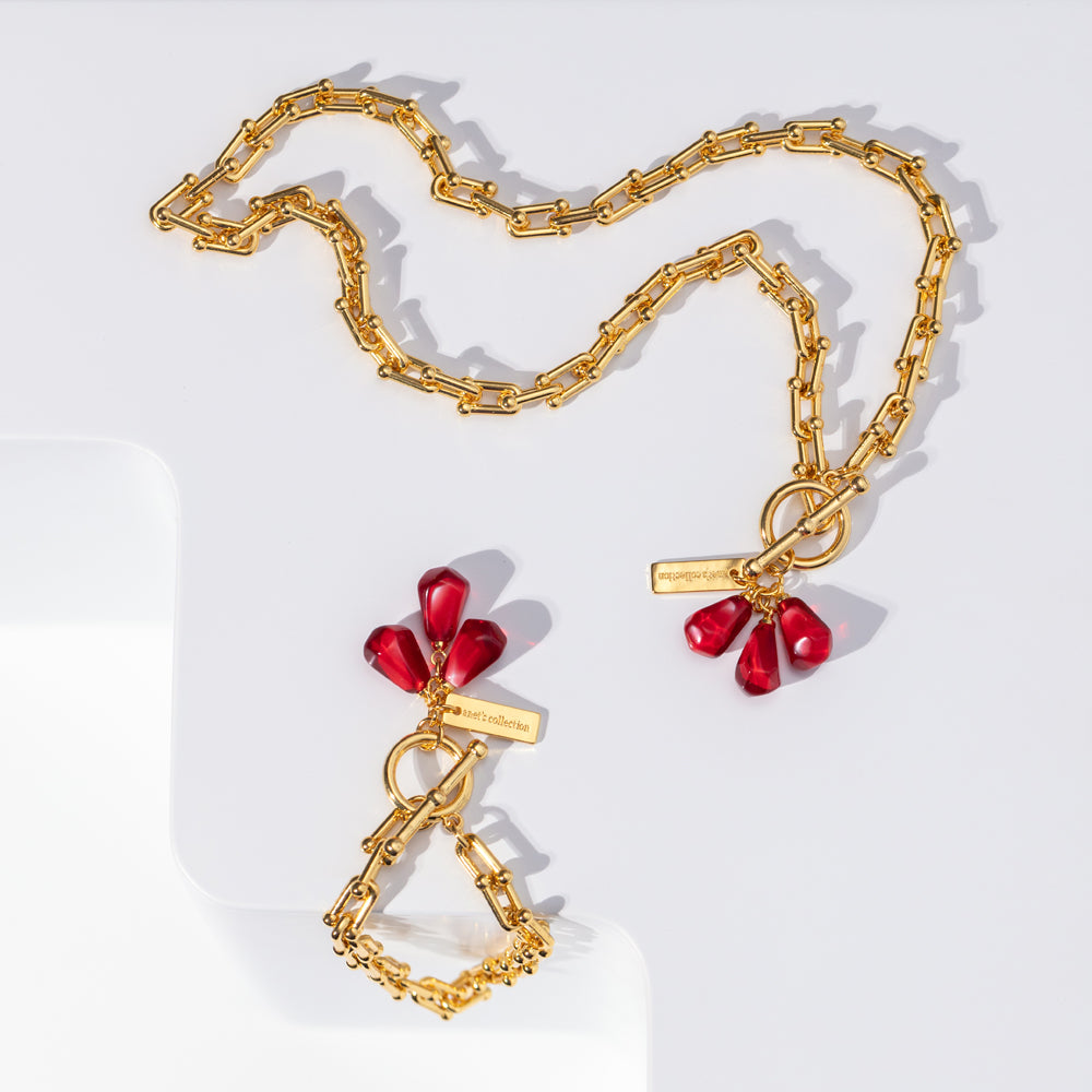 Pomegranate Seed Necklace by Anet's Collection
