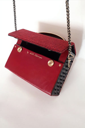 Mini burgundy bag