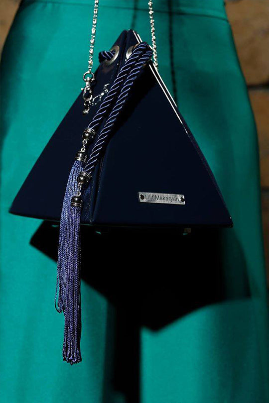 Night Blue Pyramid Bag