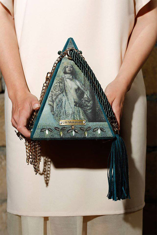 Pyramid leather bag Salome