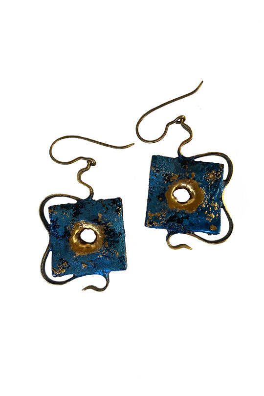 Square Wood Earrings