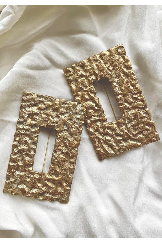 Large Rectangular Earrings