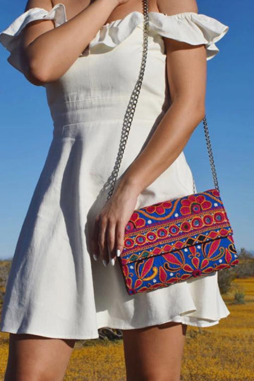 Leila Clutch & Cross Body Handbag - LEELA - MIRAYJEWELRY