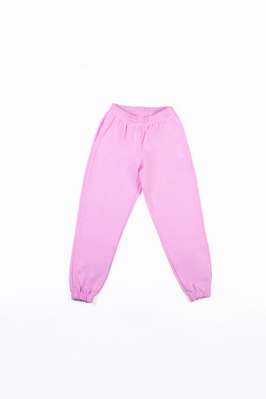 Pink pants with embroidery