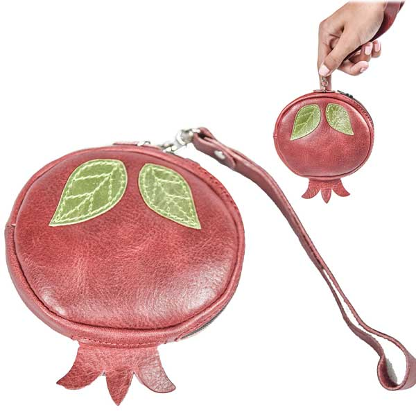 Pomegranate Coin Purse/Wallet - MIRAYJEWELRY