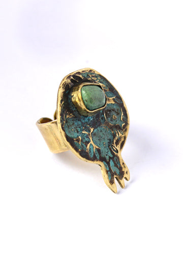 Noor Ring with Natural Stone - MIRAYJEWELRY