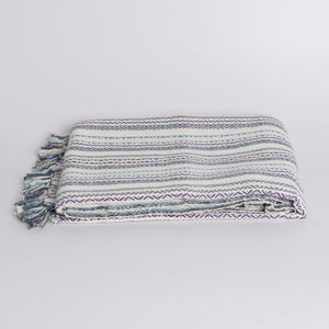 Handwoven Throw Blanket - Diamond Multi Color