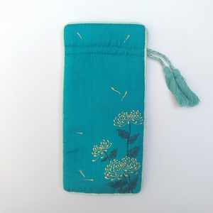 Hand-painted Silk Pouch