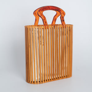 Bamboo Tote Bag with Acrylic Handle
