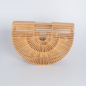Bamboo Hand Bag Half Moon