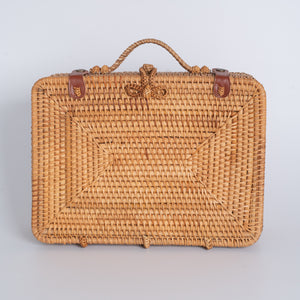 Rattan Suitcase Rectangular