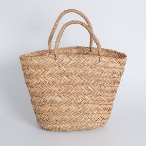 Seagrass Tote Bag Trapezoid