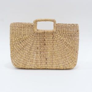 Water Hyacinth Hand Bag Rectangular - Short  Natural
