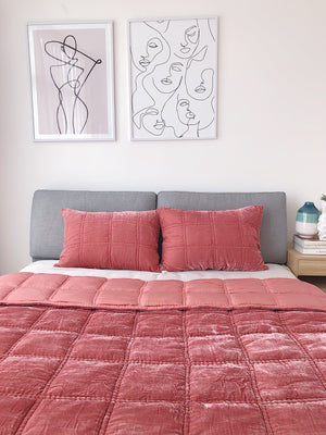 Full Set Silk Velvet Quilted Duvet