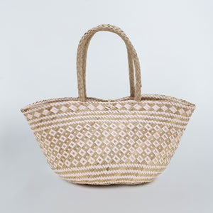 Seagrass Beach Bag - Tribal Pink & Natural