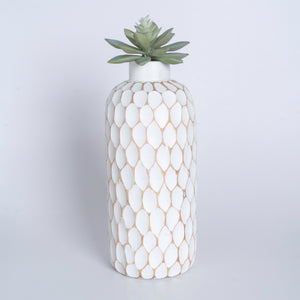Mango Wood Vase - Polka Dot Large