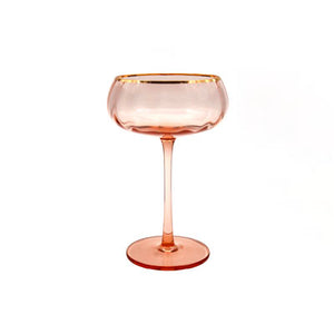 Bespoke Glassware - Long Stem Pink Coupe Glass