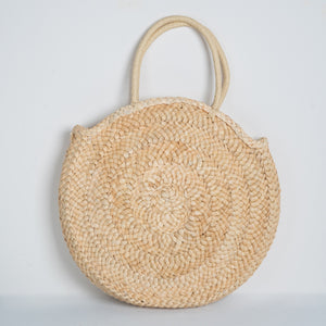 Straw Tote Bag Round
