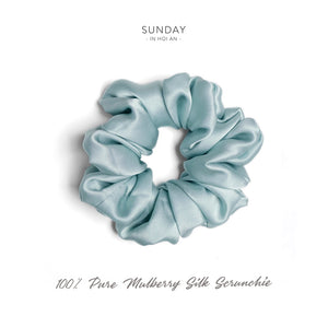 Mulberry Silk Scrunchie - Mint
