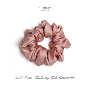 Mulberry Silk Scrunchie - French Rose